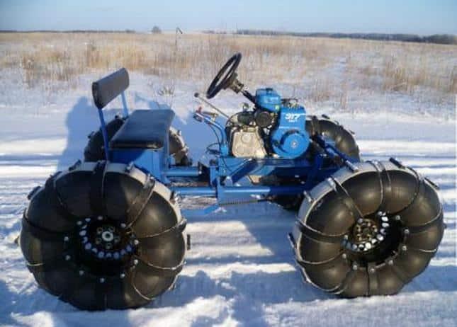 Снегоход с мотоблока колесный своими руками