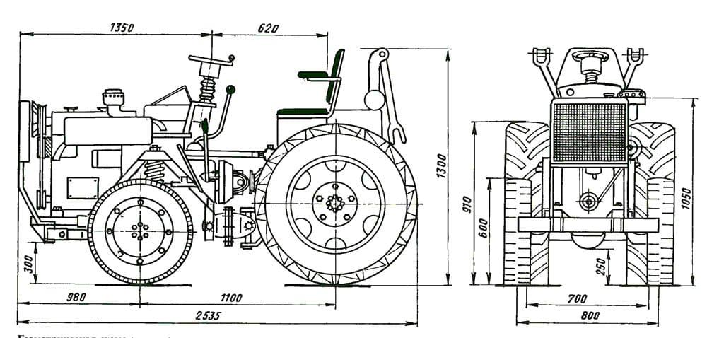 Схемы для конструирования минитрактора