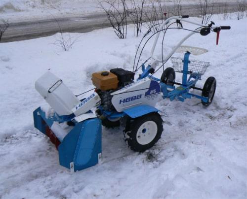 Приставка к мотоблоку снегоуборочная