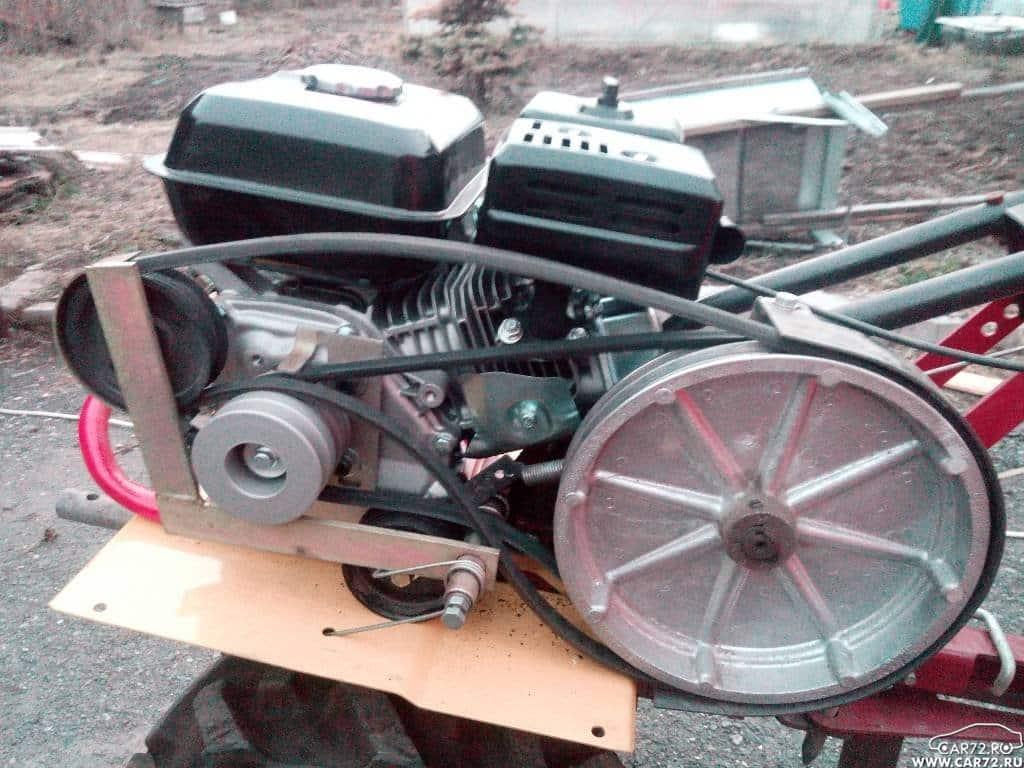 Установка двигателя для мотоблока Каскад
