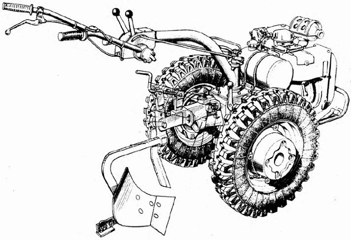 Мотоблок МТЗ 06 - чертеж
