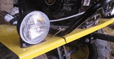 Свет на мотоблоке, как установить фару