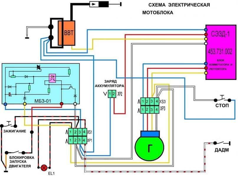 Электро схема мотоблока