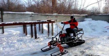 Снегоход из мотокультиватора