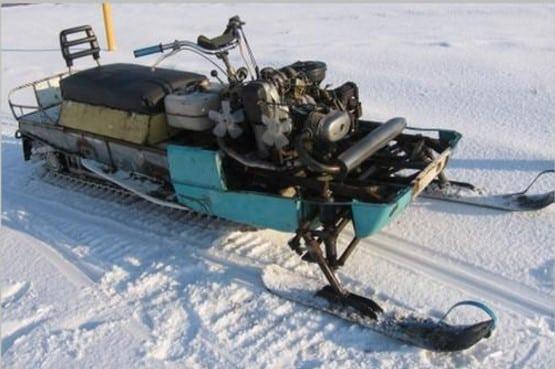 Как сделать снегоход из культиватора?