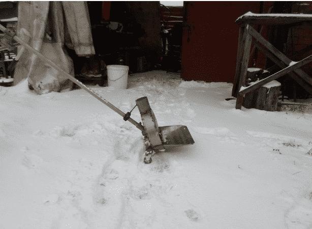 Как сделать из триммера снегоуборщик 790
