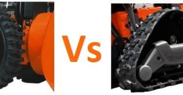 какой снегоуборщик выбрать гусеничный или колесный?