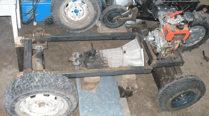 Как сделать самодельный трактор из Жигулей