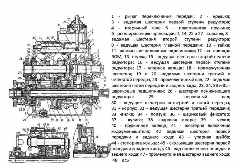 Коробка передач трактора МТЗ-80, коробка передач