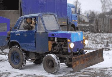 Самодельный трактор из Нивы