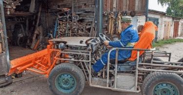 Трактор с жигулевским двигателем